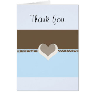 Chocolate and Blue Greeting Cards