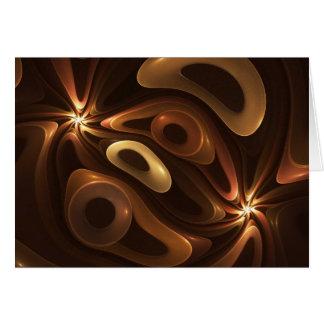 Chocolate and Caramel Greeting Card