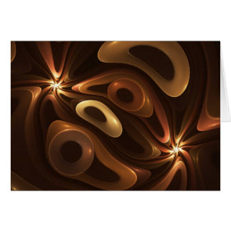 Chocolate and Caramel Greeting Card