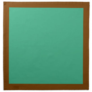 Chocolate and Mint-Colored Napkins