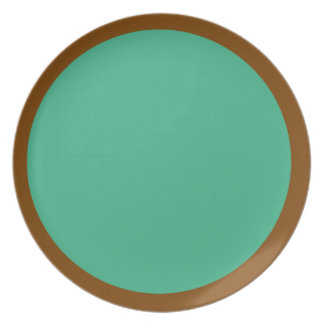 Chocolate and Mint-Colored Plate