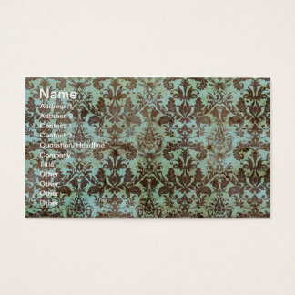 Chocolate and Mint Vintage Wallpaper