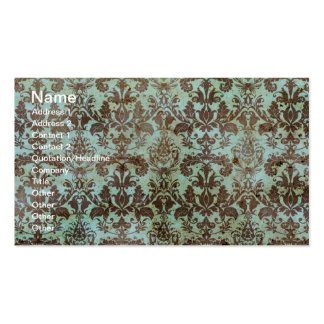 Chocolate and Mint Vintage Wallpaper Business Cards