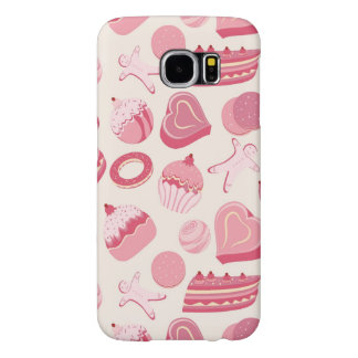 Chocolate and pastries pattern 2 samsung galaxy s6 cases