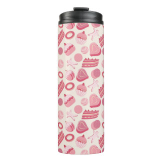 Chocolate and pastries pattern 2 thermal tumbler