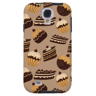 Chocolate and pastries pattern 3 galaxy s4 case