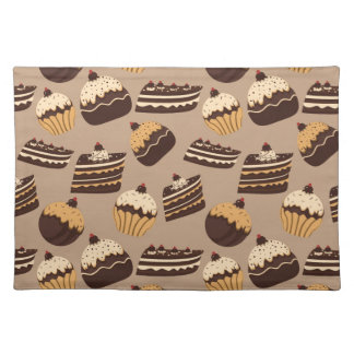 Chocolate and pastries pattern 3 placemat