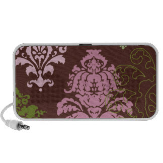 Chocolate and Pink Damask...speaker