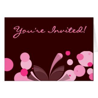 Chocolate and Pink Invitation