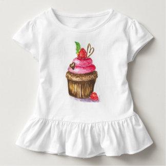 Chocolate and Raspberry Cupcake Kids Shirt