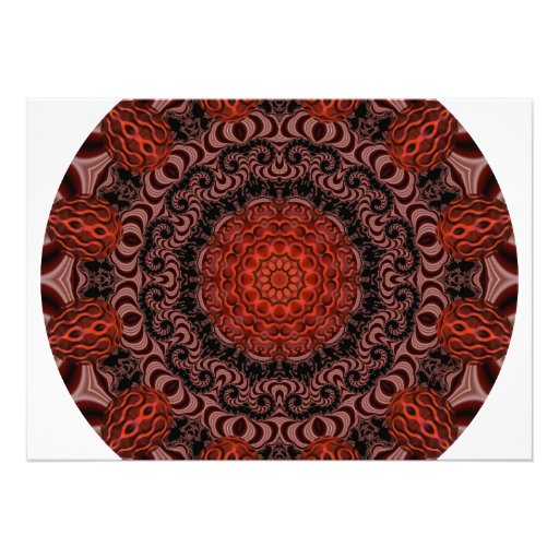 Chocolate and Strawberries Mandala, Abstract Announcements