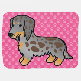 Chocolate And Tan Long Coat Dachshund Buggy Blankets