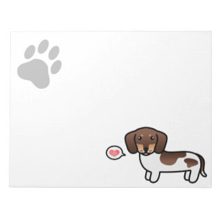 Chocolate And Tan Piebald Smooth Coat Dachshund Notepad