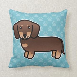 Chocolate And Tan Smooth Coat Dachshund Dog Cushion