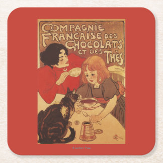 Chocolate and Tea Co Mother and Daughter Square Paper Coaster