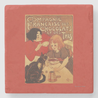 Chocolate and Tea Co Mother and Daughter Stone Coaster