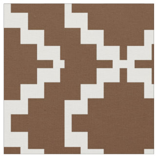 Chocolate and White Mexica Fabric