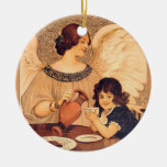 Chocolate Angel Vintage French Candy Poster Christmas Ornaments