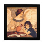 Chocolate Angel Vintage French Candy Poster Jewelry Box