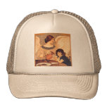 Chocolate Angel Vintage French Candy Poster Mesh Hats