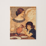 Chocolate Angel Vintage French Candy Poster Puzzle