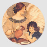 Chocolate Angel Vintage French Candy Poster Stickers