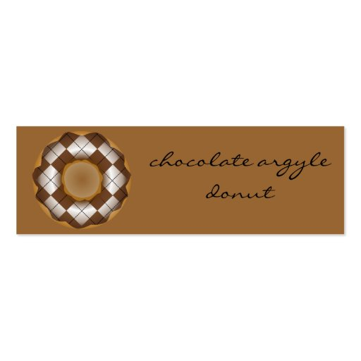 chocolate argyle donut business card template
