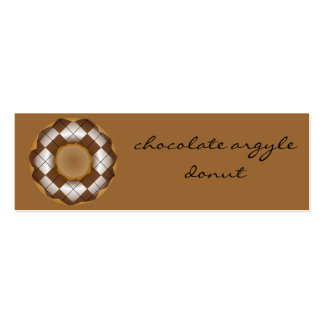 chocolate argyle donut pack of skinny business cards