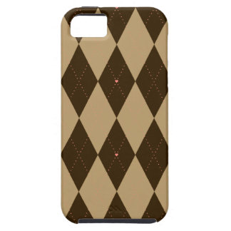 Chocolate Argyle Tough iPhone 5 Case