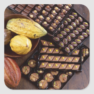Chocolate assortment for Christmas For use in Square Sticker