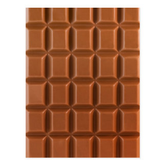 Chocolate bar background postcard