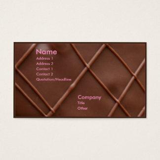 Chocolate Bar Business Card
