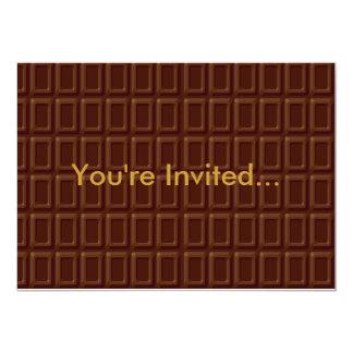 Chocolate Bar Candy 13 Cm X 18 Cm Invitation Card