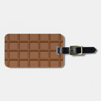 Chocolate Bar custom luggage tag
