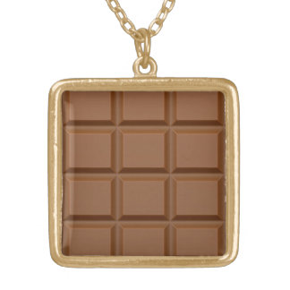 """Chocolate Bar"" custom necklace"