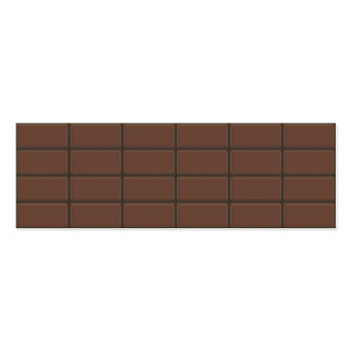 Chocolate Bar Pieces Business Card Template