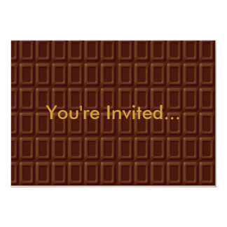 Chocolate Bar Set 13 Cm X 18 Cm Invitation Card