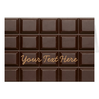 Chocolate Bar Sweet Greeting Card