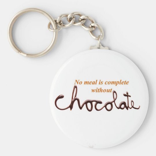 Chocolate Basic Round Button Key Ring