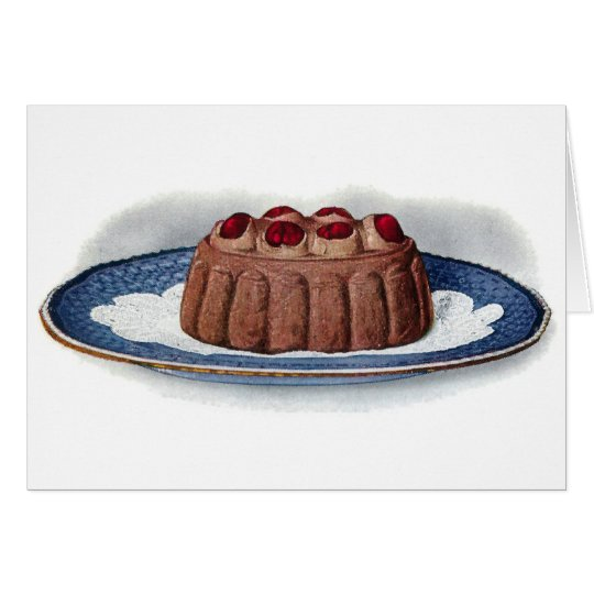 Chocolate Bavarian Cream Vintage Dessert Card