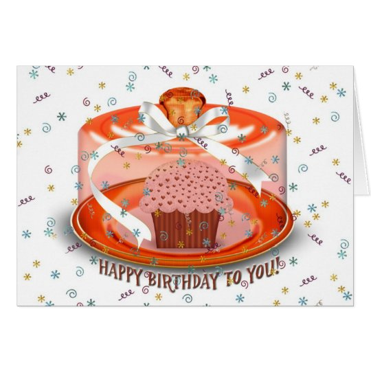 Chocolate Birthday Cupcake Card