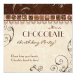 Chocolate Birthday Party Invitation