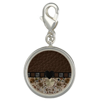 Chocolate Bling Leopard Heart