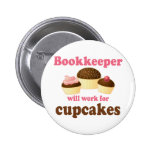 Chocolate Bookkeeper Occupation Gift 6 Cm Round Badge