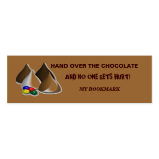 Chocolate Bookmark Pack Of Skinny Business Cards