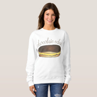 Chocolate Boston Cream Eclair French Pastry Foodie Sweatshirt