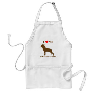 Chocolate Boston Terrier Apron