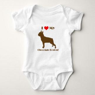 Chocolate Boston Terrier - Infant Creeper