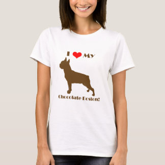 Chocolate Boston Terrier - Ladies T T-Shirt