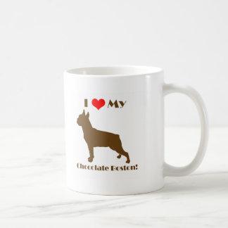 Chocolate Boston Terrier Mug